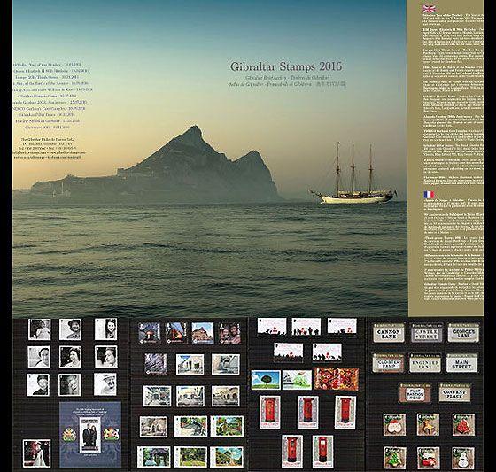 英国直布罗陀 2016年 全年邮票折 简装邮票年册 包通关 包关税图片